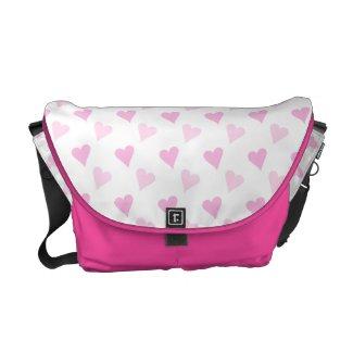 Pink Hearts Messenger Bag rickshawmessengerbag