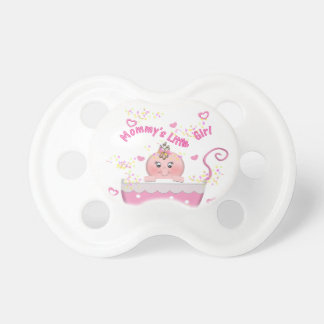 Pink Hearts Mommy's Little Girl Baby Pacifier