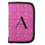 Pink hearts monogram planners