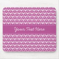 Pink Hearts mousepad, customize Mouse Pad