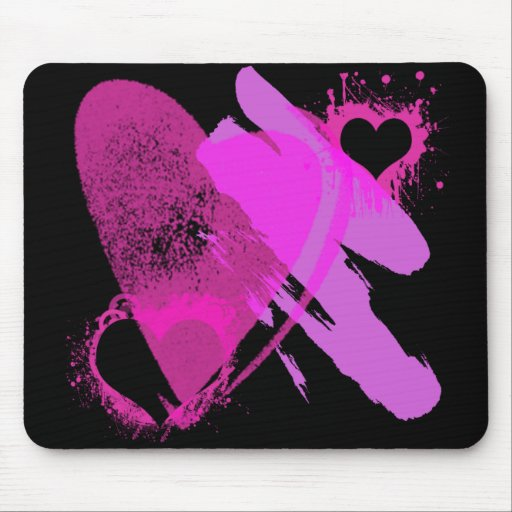 PINK HEARTS MOUSEPADS