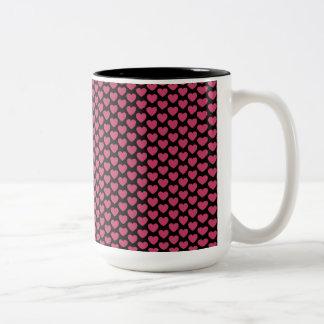 Pink Hearts Mug -