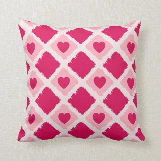 Pink Hearts N Blocks Pillow