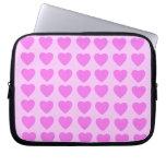 Pink Hearts Neoprene Laptop Sleeve