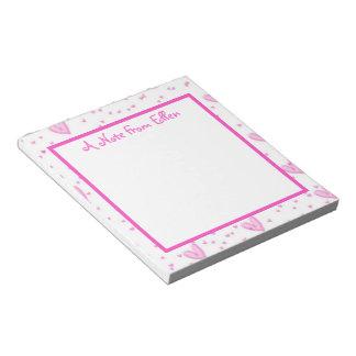 Pink Hearts Memo Notepad