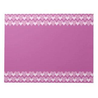Pink Hearts notepad