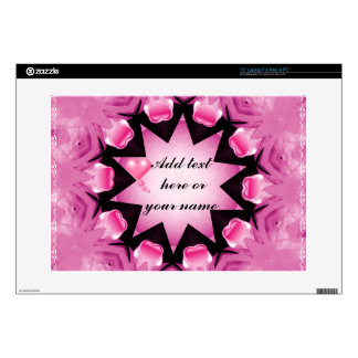 Pink hearts of love_Zazzle Skin Laptop Decal