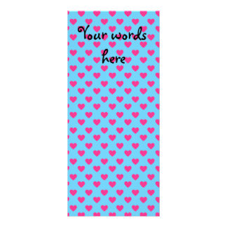 Pink hearts on blue background rack cards