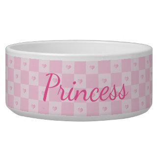 Pink Hearts on Pink Blocks Bowl