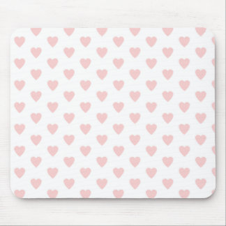 Pink Hearts pattern background Mouse Pad
