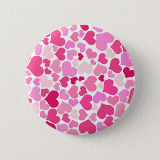 Pink hearts pattern button