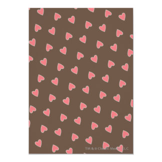 Pink Hearts Pattern Card