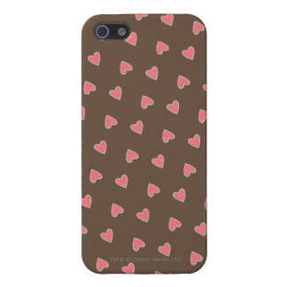 Pink Hearts Pattern Cover For iPhone SE/5/5s