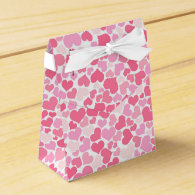 Pink Hearts Pattern -  Favor Box