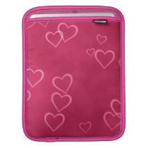 Pink hearts pattern iPad sleeve