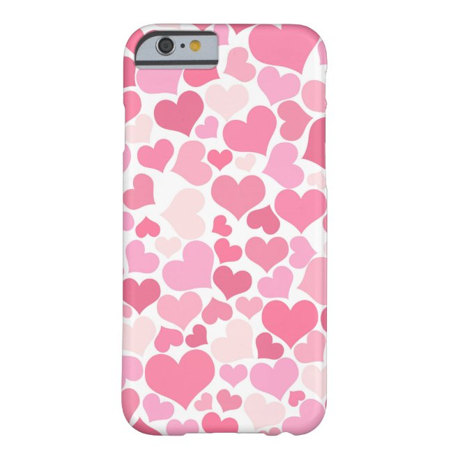Pink Hearts Pattern - iPhone case