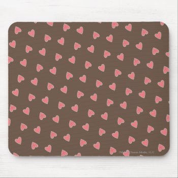 Pink Hearts Pattern Mouse Pad by casper at Zazzle