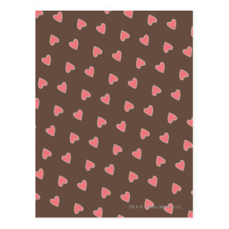 Pink Hearts Pattern Postcard