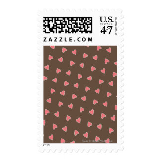 Pink Hearts Pattern Stamp