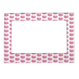 Pink Hearts pattern | Valetine's Day Magnetic Photo Frame