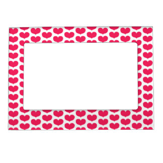 Pink Hearts pattern | Valetine's Day Magnetic Picture Frame