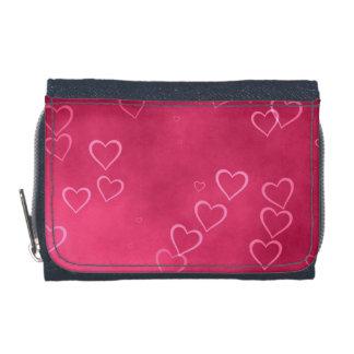 Pink hearts pattern wallet