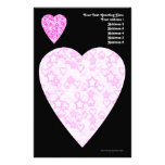 Pink Hearts. Patterned Heart Design. Stationery Paper