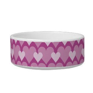 Pink Hearts pet bowls