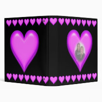 pink, hearts, photo, templete, binder, pictures, love, heart, loves, marriage, wedding, valentine's day, Binder with custom graphic design