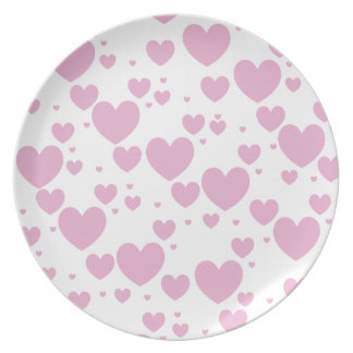 Pink Hearts Plate
