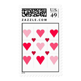 Pink Hearts Postage