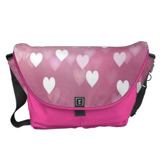 Pink Hearts Rickshaw Large Zero Messenger Bag