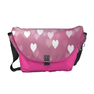 Pink Hearts Rickshaw Medium Zero Messenger Bag