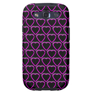 Pink Hearts Samsung Galaxy and T-Mobile Vibrant Galaxy S3 Case
