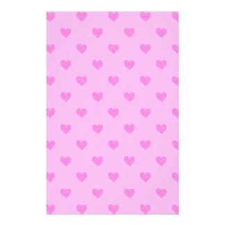 Pink Hearts Stationary Stationery