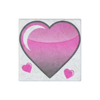 Pink Hearts Stone Magnet