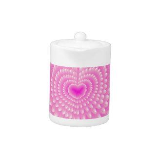 Pink hearts teapot