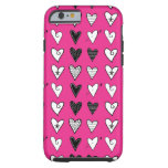 Pink Hearts Tough iPhone 6 Case