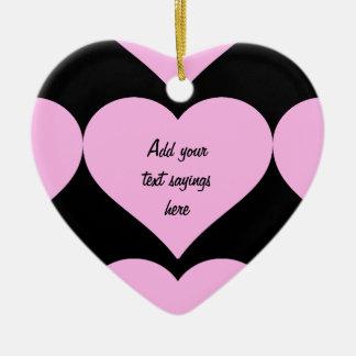Pink Hearts,Unconditional Love_ Ceramic Ornament
