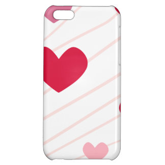 Pink Hearts Valentine Heart Pattern iPhone 5C Cases
