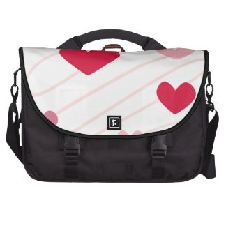 Pink Hearts Valentine Heart Pattern Commuter Bags