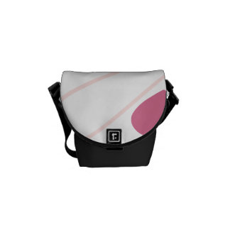 Pink Hearts Valentine Heart Pattern Courier Bags