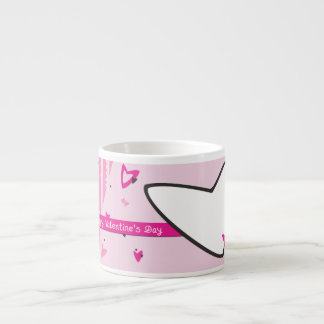 Pink Hearts Valentine's Day Espresso Cup