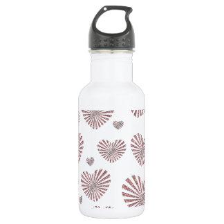 Pink Hearts Water Bottle