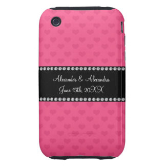 Pink hearts wedding favors iPhone 3 tough cover