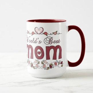 Pink Hearts Worlds Best Mom Mug