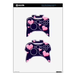Pink Hearts Xbox 360 Controller Skin