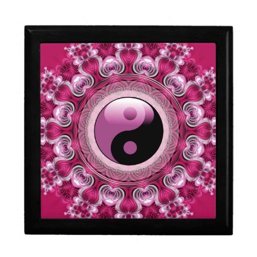 Pink Hearts Yin Yang Lacquered Gift Box