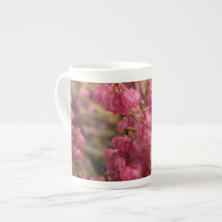 Pink Heather flowers Tea Cup