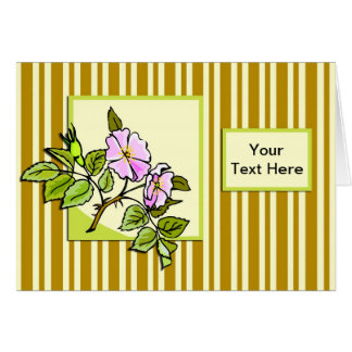 Pink Hedge Rose Card